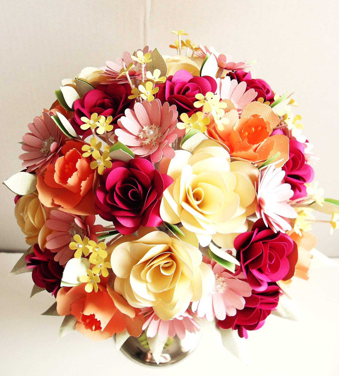 Wedding Bouquet Traditional Flowers : Images about paper flowers on