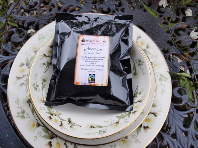 Cute fairtrade coffee pouches for your wedding guests! Buy from Tribes & Nations.