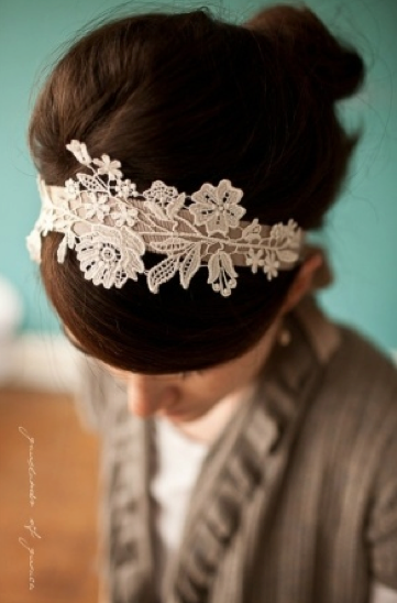 Create a lace headband