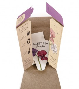 Cute Invite with seeds from Sow n' Sow